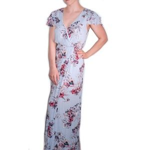 ONE CLOTHING Blue Floral Maxi Dress NWT